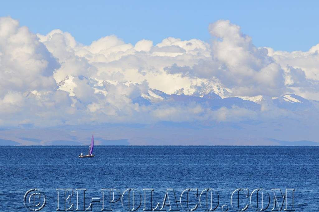 Lake Titicaca with the Cordillera Real in the background